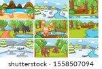 background scenes of animals in ...   Shutterstock .eps vector #1558507094