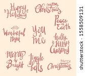 set of merry christmas hand...   Shutterstock .eps vector #1558509131