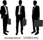 businessman holding briefcase... | Shutterstock .eps vector #155851541