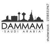 dammam saudi arabia skyline...   Shutterstock .eps vector #1558531967