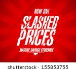 slashed prices design template. | Shutterstock .eps vector #155853755