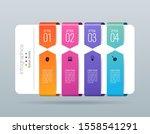 infographics design vector... | Shutterstock .eps vector #1558541291