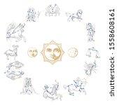 Zodiac Wheel With...
