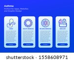 asthma mobile user interface... | Shutterstock .eps vector #1558608971