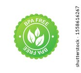green colored bpa free emblems  ...   Shutterstock .eps vector #1558616267