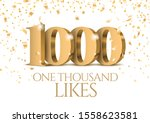 anniversary or event 1000. gold ... | Shutterstock .eps vector #1558623581