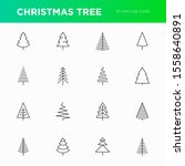 christmas tree in different... | Shutterstock .eps vector #1558640891
