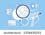 gene correction scientific... | Shutterstock .eps vector #1558650251