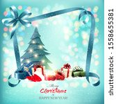 merry christmas and new year... | Shutterstock .eps vector #1558655381