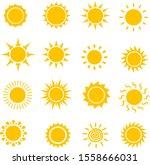set of the suns. cute suns.... | Shutterstock .eps vector #1558666031