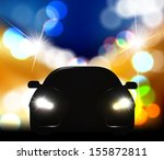 silhouette of car with... | Shutterstock .eps vector #155872811