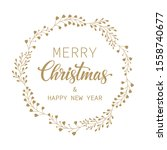 merry christmas and happy new... | Shutterstock .eps vector #1558740677