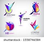 vector set of human  faceted...   Shutterstock .eps vector #1558746584