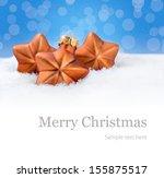 background for christmas... | Shutterstock . vector #155875517