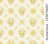 vector seamless pattern with... | Shutterstock .eps vector #1558756007