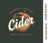 vector label for apple cider... | Shutterstock .eps vector #1558765367