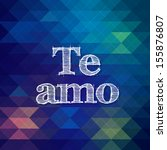 "vector spanish language ""i love ... | Shutterstock .eps vector #155876807"