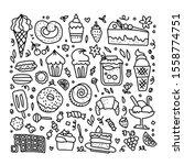 vector illustration of sweeties ... | Shutterstock .eps vector #1558774751