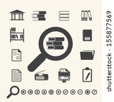 documents icons and library... | Shutterstock .eps vector #155877569