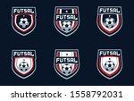 futsal team sport logo design | Shutterstock .eps vector #1558792031
