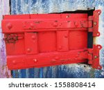 Bright Red Door With Bolt....
