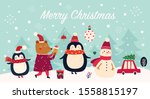 vector christmas banner with... | Shutterstock .eps vector #1558815197
