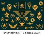 Set Of Army Star. Military Ran...