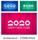 happy new year vector 2020.... | Shutterstock .eps vector #1558819424