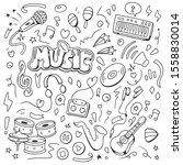 music doodle vector... | Shutterstock .eps vector #1558830014