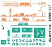 transportation infographics... | Shutterstock .eps vector #155884109
