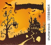 halloween vector card.  | Shutterstock .eps vector #155884814