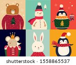 vector christmas banner with... | Shutterstock .eps vector #1558865537