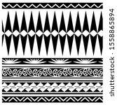 border maori pattern geometric... | Shutterstock .eps vector #1558865894