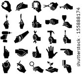 hand icon collection   vector... | Shutterstock .eps vector #155888174