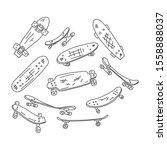 Flyer Skateboard Hand Drawn...
