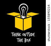 think outside the box | Shutterstock .eps vector #155890214