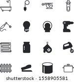 equipment vector icon set such... | Shutterstock .eps vector #1558905581
