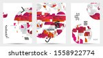 abstract flyer templates with... | Shutterstock .eps vector #1558922774