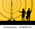 telecommunications radio tower... | Shutterstock .eps vector #155893745