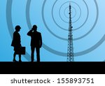 telecommunications radio tower... | Shutterstock .eps vector #155893751