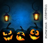 vector background to halloween... | Shutterstock .eps vector #155895011