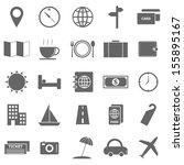 travel icons on white... | Shutterstock .eps vector #155895167