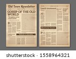 vintage newspaper. news... | Shutterstock . vector #1558964321