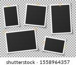 realistic photo frames. vintage ... | Shutterstock . vector #1558964357