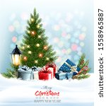 holiday christmas and new year... | Shutterstock .eps vector #1558965887