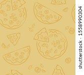 italian food pizza sketch... | Shutterstock .eps vector #1558990304