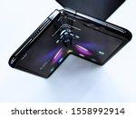 the new samsung galaxy fold... | Shutterstock . vector #1558992914