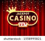 casino jackpot 777 slots banner ...   Shutterstock .eps vector #1558995821