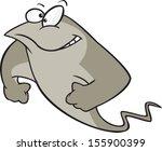 strong cartoon stingray