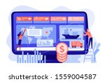 logistics industry and freight... | Shutterstock .eps vector #1559004587